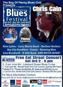 Blues Festival flyer
